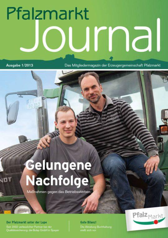 Cover Pfalzmarkt Journal, Ausgabe 2013-1