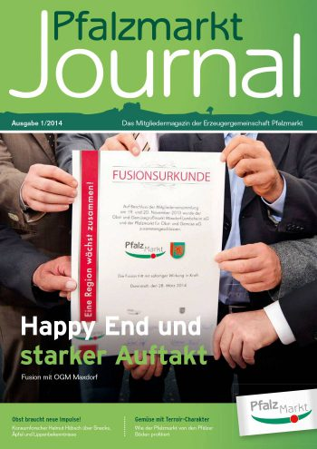 Cover Pfalzmarkt Journal, Ausgabe 2014-1