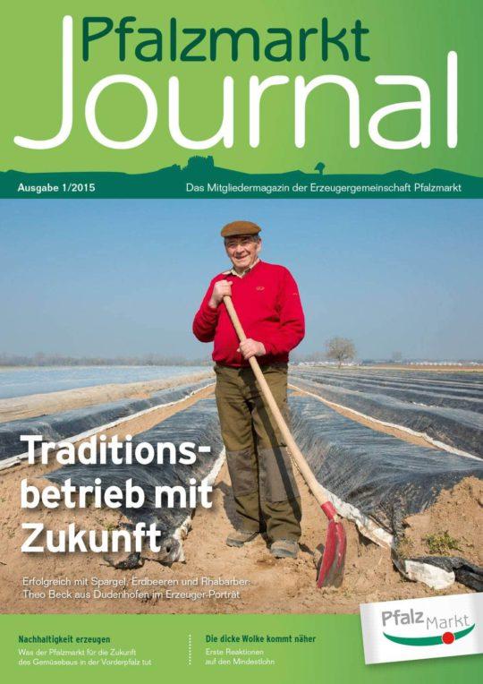 Cover Pfalzmarkt Journal, Ausgabe 2015-1