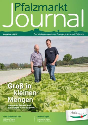 Cover Pfalzmarkt Journal, Ausgabe 2018-1
