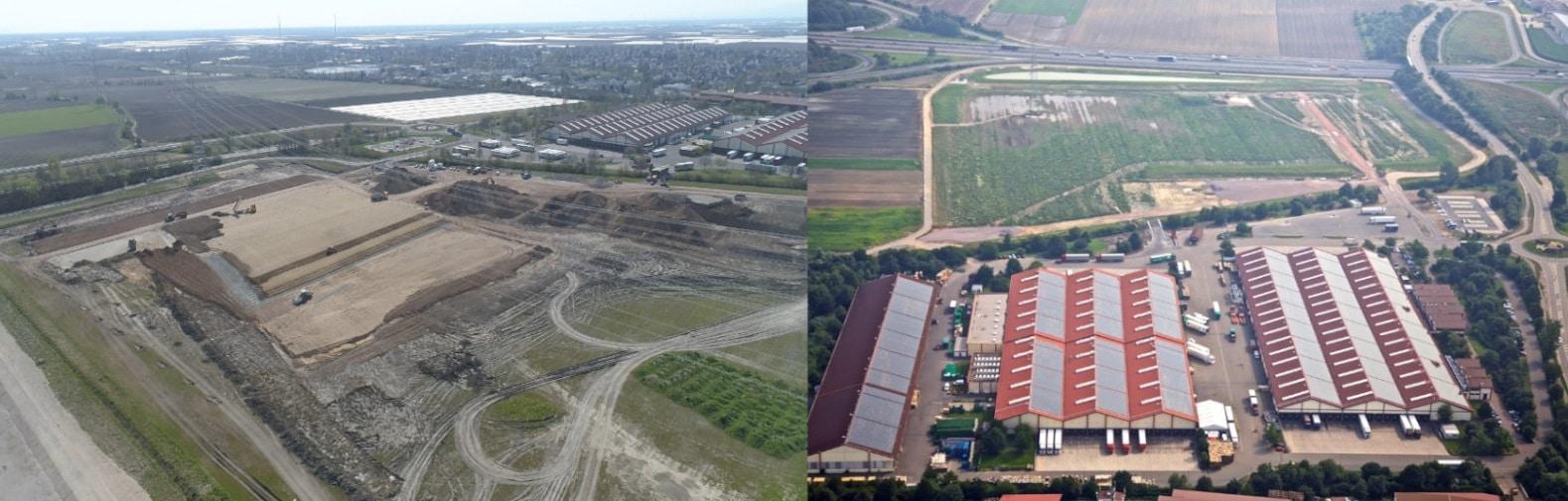 Pfalzmarkt Standorterweiterung Vergleich altes und neues Gebäude